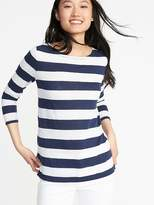 Old Navy Relaxed Mariner-Stripe Linen-Blend Tee for Women