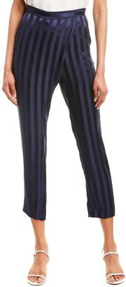 Mason by Michelle Mason Wrap Front Silk Pant
