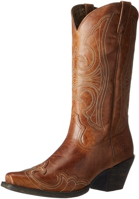 Ariat Women's Women's Round Up D Toe Wingtip Western Cowboy Boot