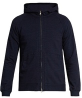 Blue Blue Japan Hooded zip-through cotton sweatshirt