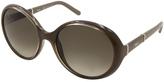 Chloé Green Gradient Round Sunglasses