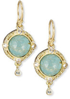 Armenta Old World Midnight Turquoise & Quartz Doublet Earrings with Diamonds
