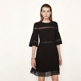 Maje Short dress with inlaid lace