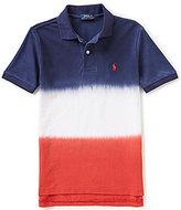 Ralph Lauren Big Boys 8-20 Americana Dip-Dyed Short-Sleeve Mesh Polo Shirt