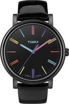 Timex Originals Modern Womens Black Leather Strap Watch T2N790AB