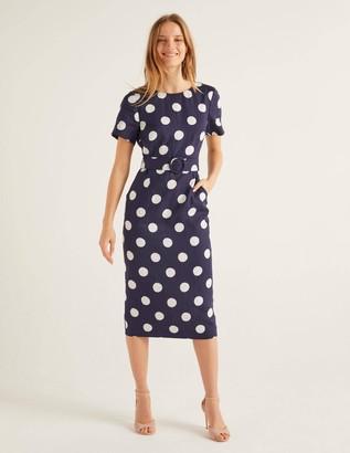 Hazel Belted Linen Dress