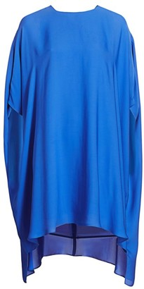 St. John Silk Georgette Handkerchief Dress