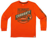 Carhartt Blaze Orange 'Carhartt Hunt Club' Graphic Tee - Boys