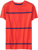 Crazy 8 Orange Poppy & Navy Stripe Tee - Toddler & Boys