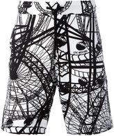 Love Moschino 'London Eye' print shorts