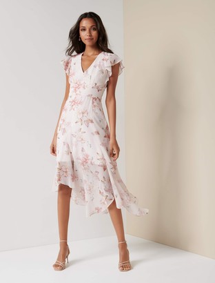 Ever New Jenna Ruffle Sleeve Maxi Dress