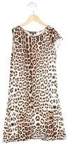Roberto Cavalli Girls' Leopard Print Sleeveless Dress