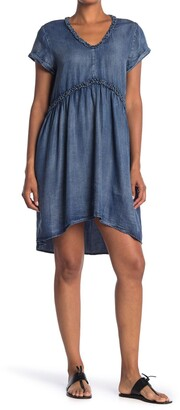 Velvet Heart Griselda Ruffle Trim Washed Chambray High/Low Dress