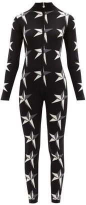 Perfect Moment Star-intarsia Merino-wool Jumpsuit - Black Print
