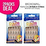 Kiss 2-Pack! Broadway Fashion Diva 24 Nails in 12 Sizes (BFD54364)