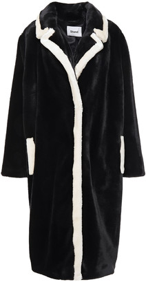 Stand Studio Marianne Two-tone Faux Fur Coat