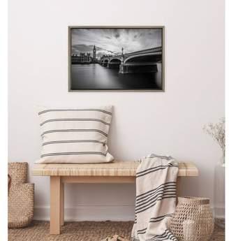 "Westminster Amanti Art 23"" x 16 Serenity by Nader El Assy Framed Wall Canvas Gray"