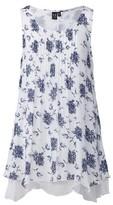 Dorothy Perkins Womens *Izabel London Navy Floral Print Layered Tunic Top
