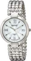 August Steiner Women's AS8065SS Diamond Swiss Quartz Bracelet Watch