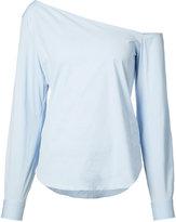 Theory off shoulder blouse - women - Cotton/Spandex/Elastane - XS
