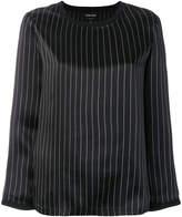 Giorgio Armani pin stripe round neck blouse