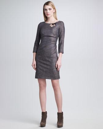Piazza Sempione Scoop-Neck Glen Plaid Dress