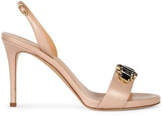 Giuseppe Zanotti Gemstone Embellished Stiletto Sandals