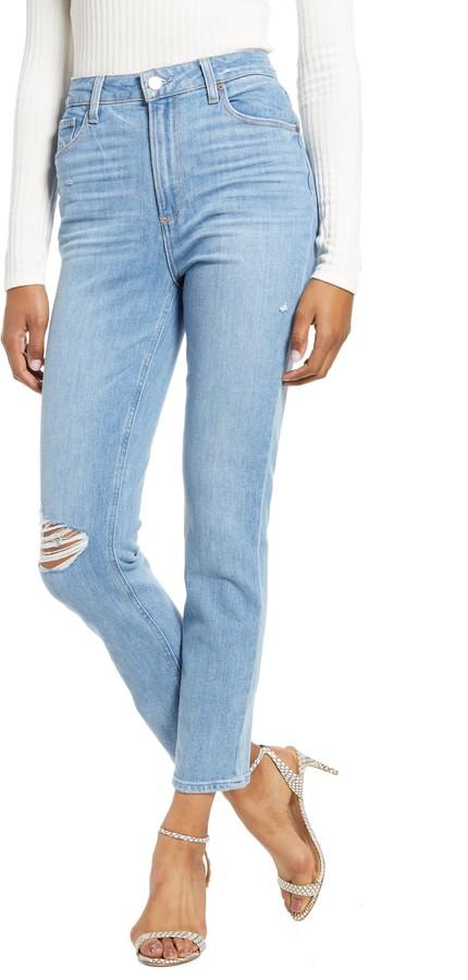 Transcend Vintage - Sarah High Waist Ripped Skinny Jeans