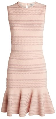 Alexander McQueen Textured Knit Mini Dress