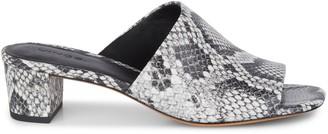 Vince Ripley Snakeskin-Embossed Leather Mule Sandals