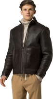 Tommy Hilfiger Shearling Leather Bomber