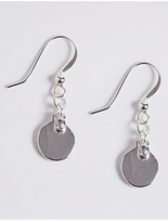 M&S Collection Silver Plated Crystal Drop Earrings