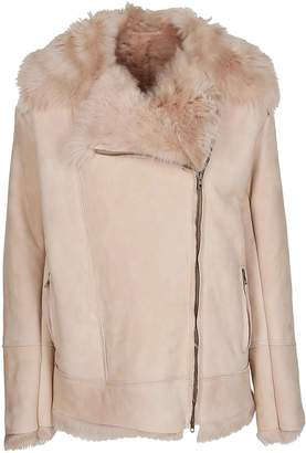 Salvatore Santoro Fur Trim Leather Jacket