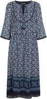 St. John Blue Tile Midi Dress