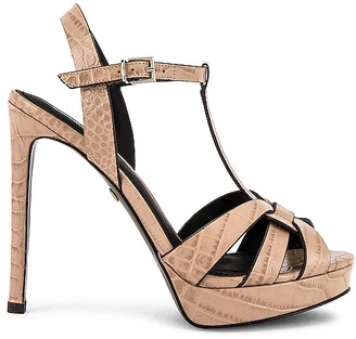 Lola Cruz Mavra Croco High Heel Sandal