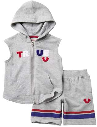 True Religion True Sleeveless Hoodie & Shorts (Toddler Boys)