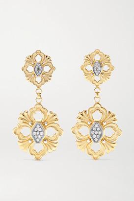 Buccellati Opera 18-karat Yellow And White Gold Diamond Earrings - one size
