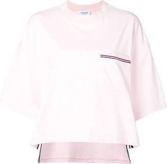 Thom Browne RWB-stripe boxy T-shirt