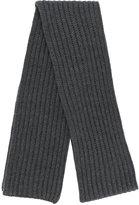 Neil Barrett ribbed knit scarf
