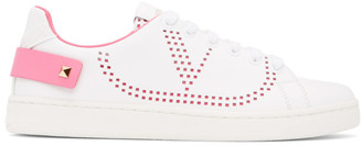 Valentino White Garavani VLogo Backnet Sneakers