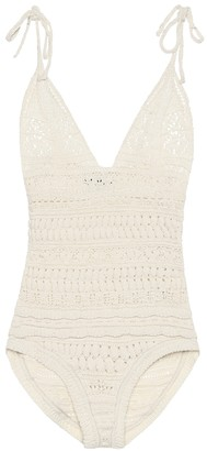 Isabel Marant Fuzz cotton-blend knit bodysuit