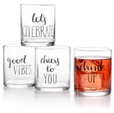 The Cellar Words 4-Pc. Old Fashioned Glass Set