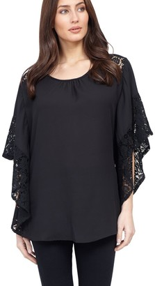M&Co Izabel lace sleeve top
