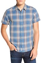 Lucky Brand Men's Slim Fit Ballona Washed Plaid Shirt