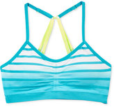 Maidenform Striped Dip-Dye Ruched Seamless Crop Bra, Little Girls (4-6X) and Big Girls (7-16)