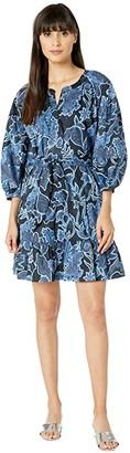 Parker Jenna Dress (Marine Safari) Women's Dress