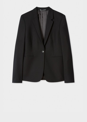 Paul Smith A Suit To Travel In - Women's Black One-Button Wool Blazer