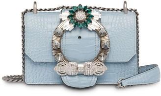 Miu Miu Lady crocodile-effect shoulder bag