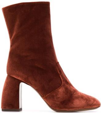 L'Autre Chose Urban Glam velvet ankle boots