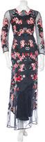 Erdem Embroidered Silk Dress
